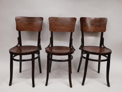Židle Thonet 3x kusy, ..cca 1900