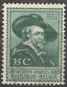 Belgie 1930 Mi 276 umění, výstava Vlámští mistři Antverpy, Rubens