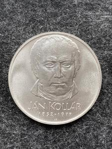🌶 Stříbrná mince 50 Kčs J. Kollár 125. výročí 1977