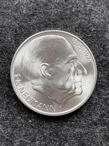 🌶 Stříbrná mince 50 Kčs S. K. Neumann 100. výročí 1975