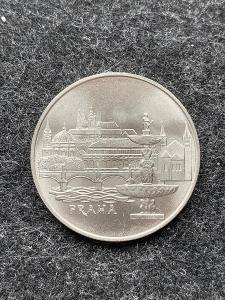 🌶 Stříbrná MINCE 50 KČS MĚSTO PRAHA - 1986 - PERFEKTNÍ STAV