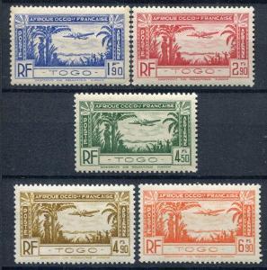 francúzsky Togo 1940 **  letecké komplet yt. PA 1-5