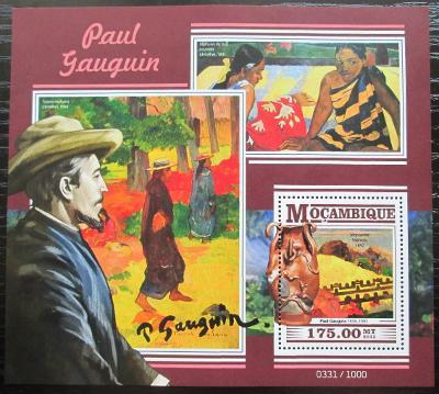 Mosambik 2015 Umění, Paul Gauguin Mi# Block 1082 Kat 10€ 2431