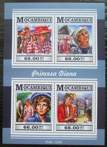 Mosambik 2015 Princezna Diana Mi# 8244-47 Kat 15€ 2432