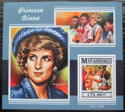Mosambik 2015 Princezna Diana Mi# Block 1089 Kat 10€ 2432