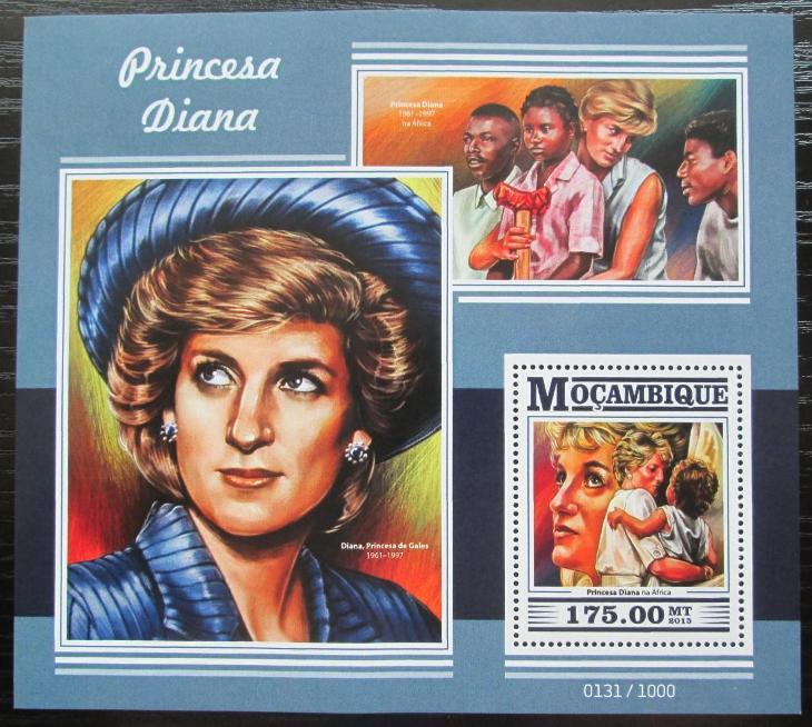 Mosambik 2015 Princezna Diana Mi# Block 1089 Kat 10€ 2432 - Filatelie