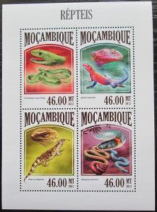 Mosambik 2013 Obojživelníci a plazi Mi# 6807-10 Kat 11€ 2437