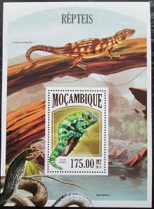 Mosambik 2013 Obojživelníci a plazi Mi# Block 801 Kat 10€ 2437