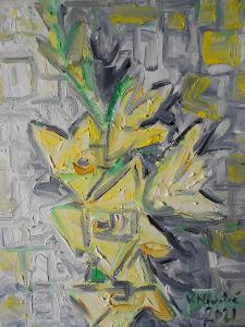 Obraz akryl originál autorská malba  Sen o kubismu