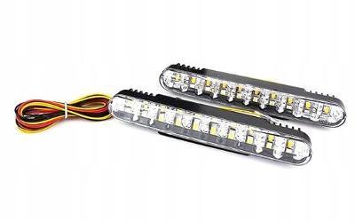 Světla pro denní svícení + směr 2x10 led homologace DRL 0189
