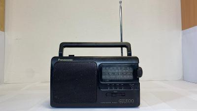Odkaz na video. Starší rádio PANASONIC GX500. Na baterie nebo do sítě