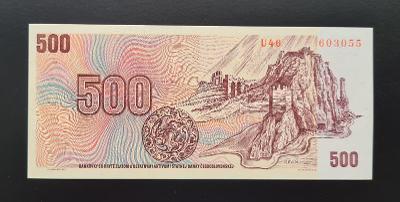 500 Kčs 1973, série U 46, stav UNC!