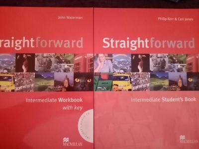 učebnice AJ Straightforward Intermediate SB a WB