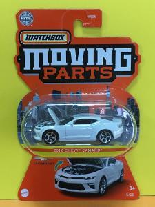 2016 Chevy Camaro bílé - Matchbox moving parts 15/20 (MB5-n5)