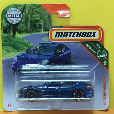 Porsche Panamera modrá metalíza - Matchbox 2019 26/125 (L10-m4)
