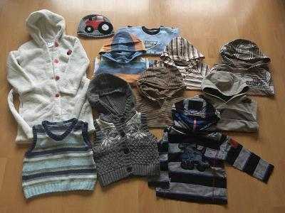 Oblečení pro dítě vel. 80-92 (mikiny a župan)