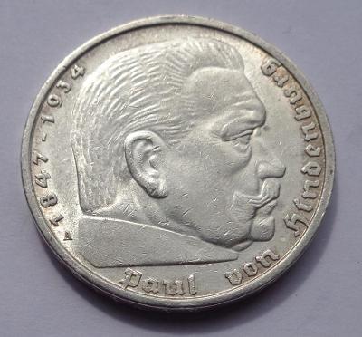5 marka se svastikou 1936 A !!!