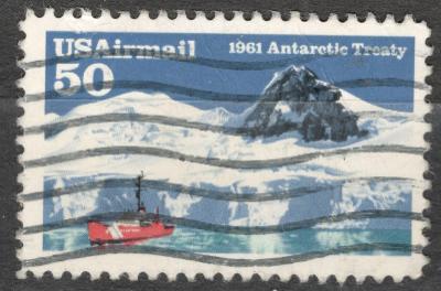 USA 1991 Mi 2148 Antarktida, 30. výročí smlouvy, ledovec loď