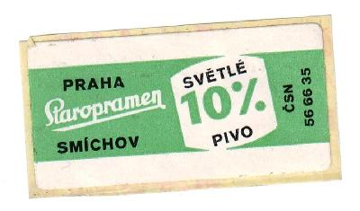 T 16 - Staropramen Praha - samolepka