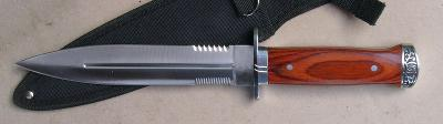 Oboustranně broušený nůž - dýka 33 cm