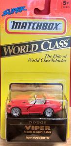 MATCHBOX WORLD CLASS ´´ DODGE VIPER ´´ 1993