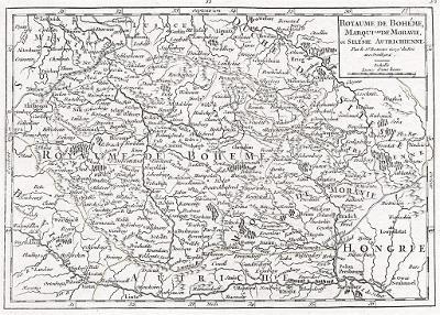 Vaugondy R.: Boheme Moravie, mědiryt, (1790)