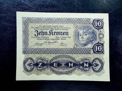 10 Kronen 1922 aUNC