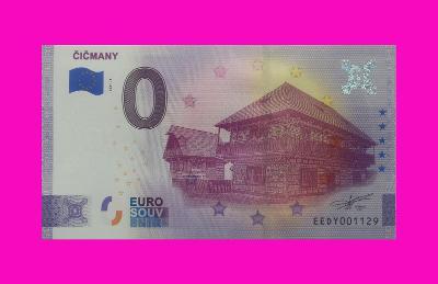 0 Euro souvenir bankovka ČIČMANY