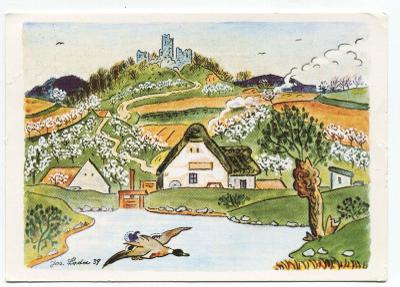 Josef LADA: Velikonoce, kachna nad rybníkem, ALBI