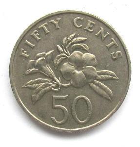 Singapur 50 centů 2005