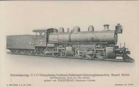 Úzkorozchodná čtyřválcová parní lokomotiva- náklad