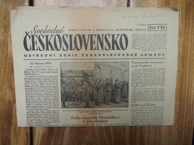 Za Svobodné Československo 1946 - Stalin odpovídá Churchillovi