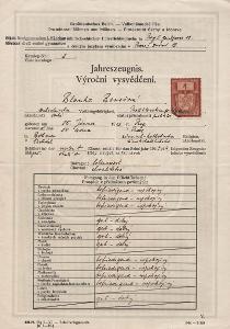 Školní vysvědčení_Praha 1_Benešová Blanka_Praha_1535