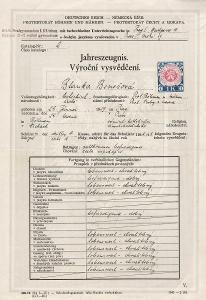 Školní vysvědčení_Praha 1_Benešová Blanka_Praha_1536
