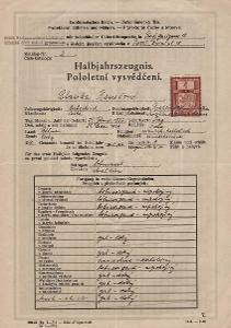 Školní vysvědčení_Praha 1_Benešová Blanka_Praha_1537