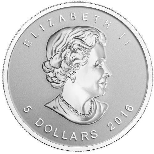 Maple Leaf 2016 - Stříbrná investiční mince 1 oz 999.9/1000 Ag  - Numismatika