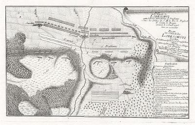 Lovosice  bitva, mědiryt (1760)