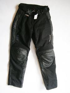 Kalhoty textil+ kůže dámské HEIN GERICKE- vel. L/40, pas: 82 cm