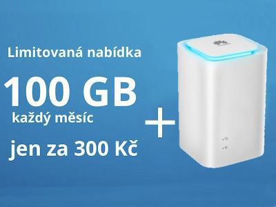 SIM O2 Datamánie 100 GB + Wi-Fi LTE modem Huawei E5180