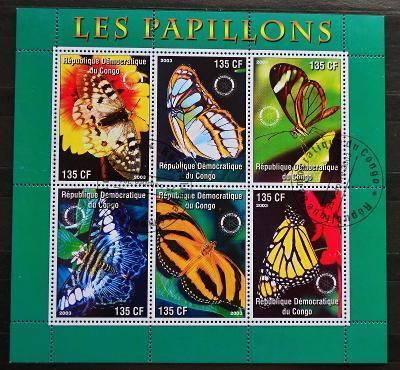 = CONGO-KONGO, 2003. =Motýli= PL / FZ-195