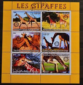 = CONGO-KONGO, 2003. =Žirafy = PL / FZ-197
