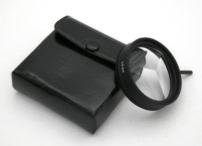 TRIKOVÝ FILTR na trojité obrázky  (49 mm) + POUZDRO