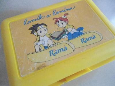 žlutý box na svačinu Rama Ramík a Ramína