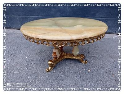 *** TOP super luxusní bohatě zdobený bronzový konferenční stůl ***