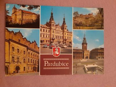 Pohlednice Pardubice,prošlé poštou