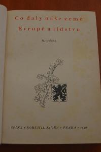 Co daly naše země Evropě a lidstvu - neznámý autor