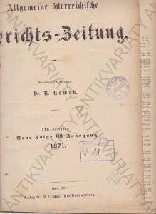 Gerichts-Zeitung Dr. R. Kowak  1871