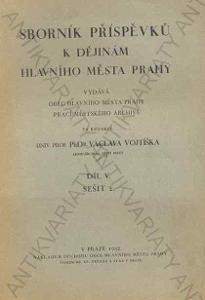 Sborník příspěvků k dějinám hlavního města Prahy
