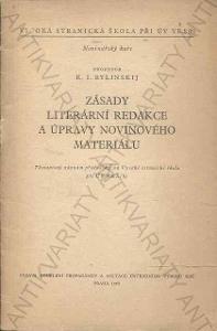 Zásady literární redakce a úpravy novinového mater