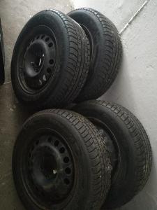 """Plechové disky15"""" 5x110 vč. zimního pneu - (OPEL )"""